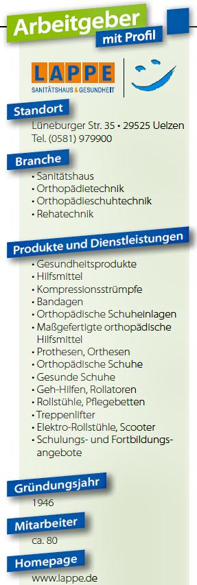 Sanitätshaus Lappe - Infos über den Arbeitgeber